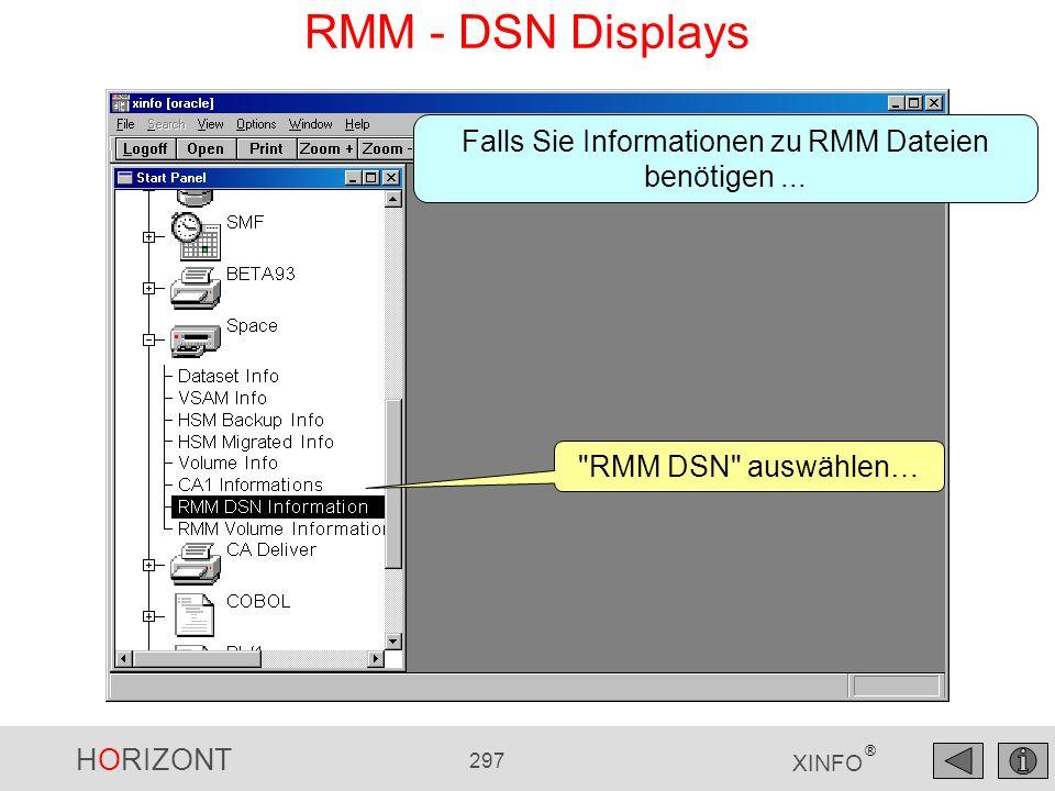 HORIZONT 297 XINFO ® RMM - DSN Displays