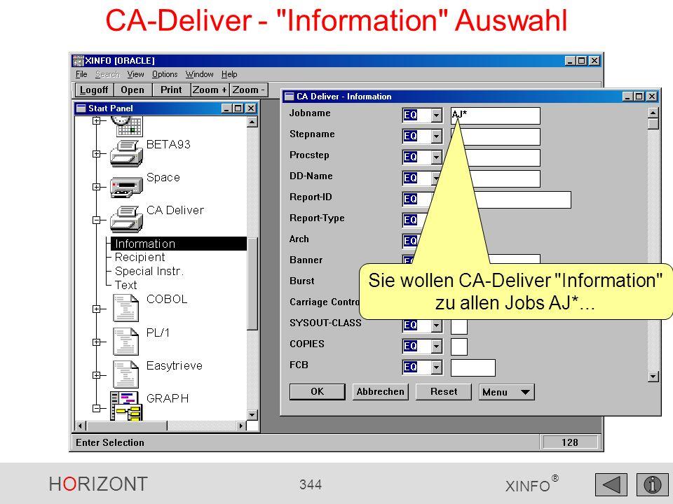 HORIZONT 344 XINFO ® CA-Deliver -