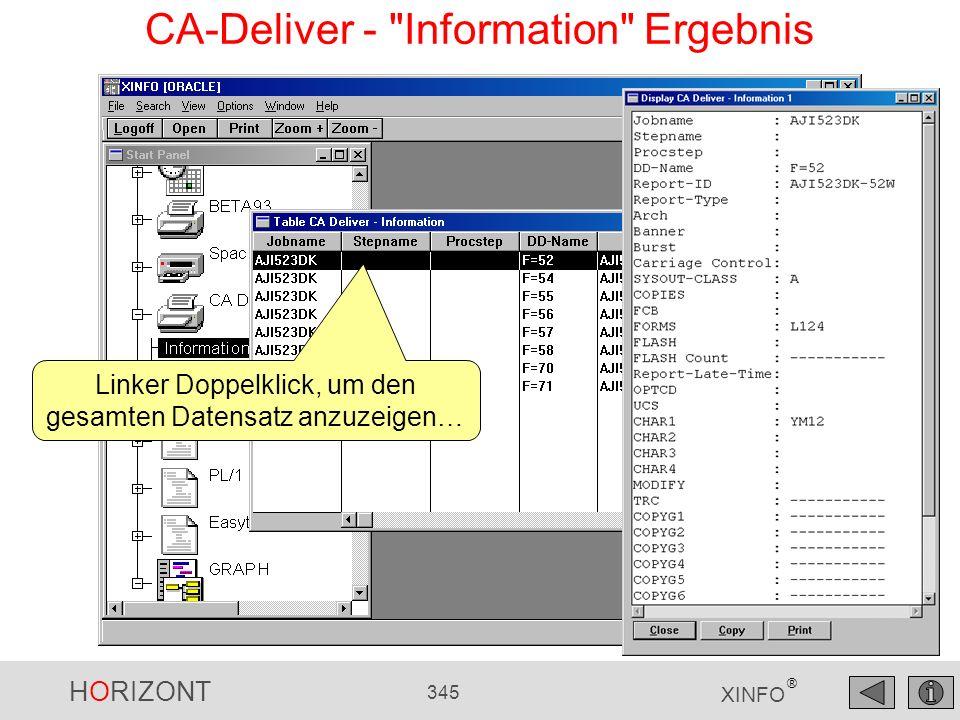 HORIZONT 345 XINFO ® CA-Deliver -
