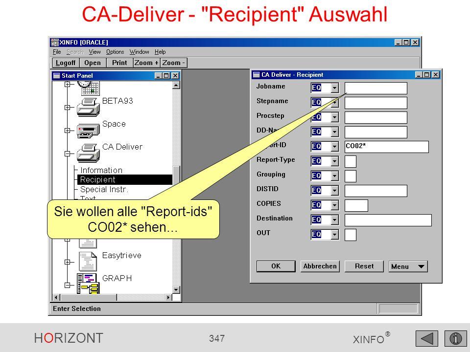 HORIZONT 347 XINFO ® CA-Deliver -