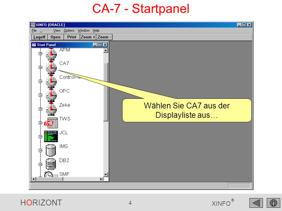 HORIZONT 45 XINFO ® Control-M - DO Cond Action