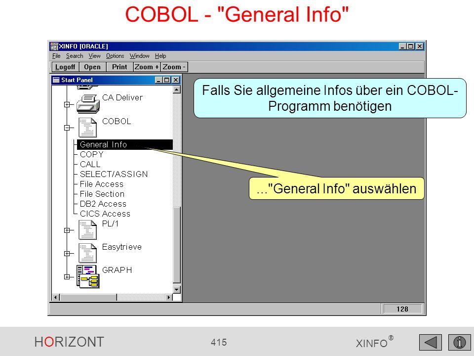 HORIZONT 415 XINFO ® COBOL -