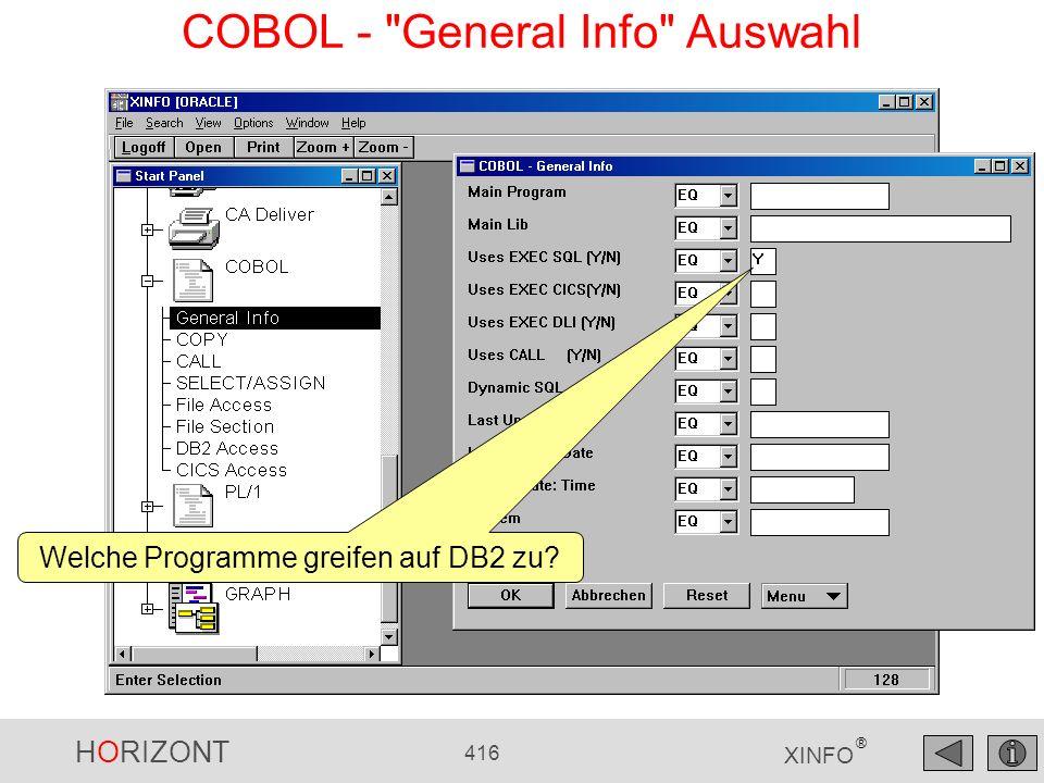 HORIZONT 416 XINFO ® COBOL -