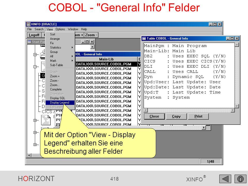HORIZONT 418 XINFO ® COBOL -