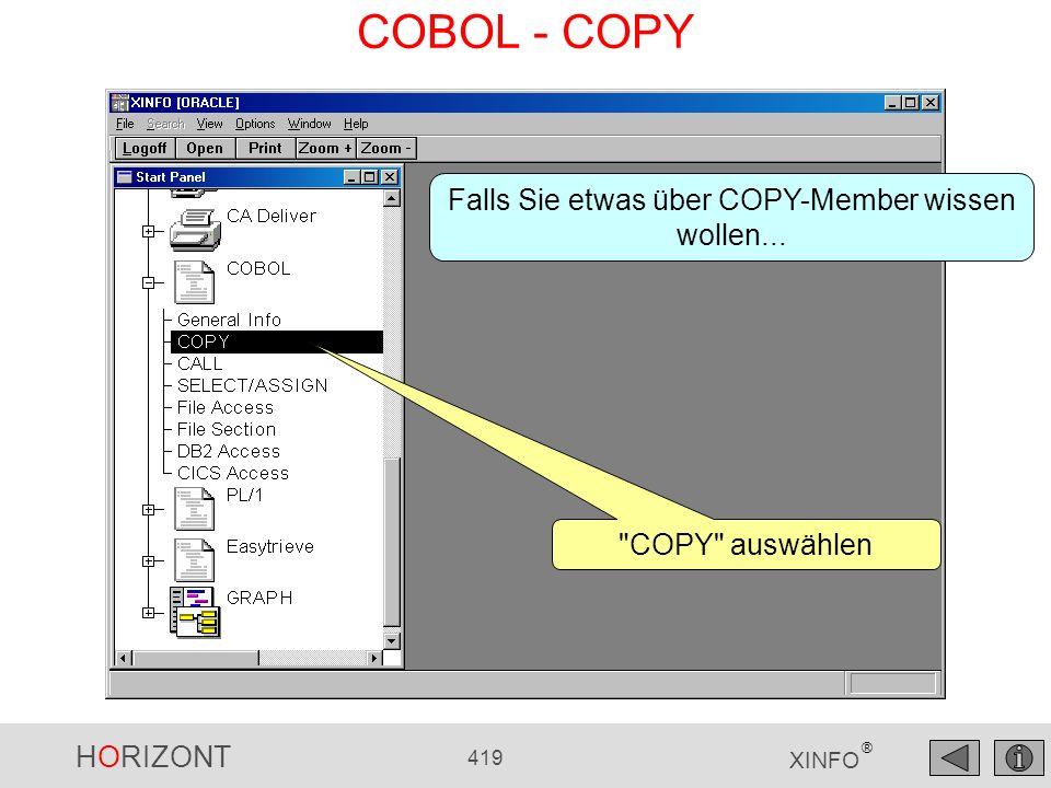 HORIZONT 419 XINFO ® COBOL - COPY