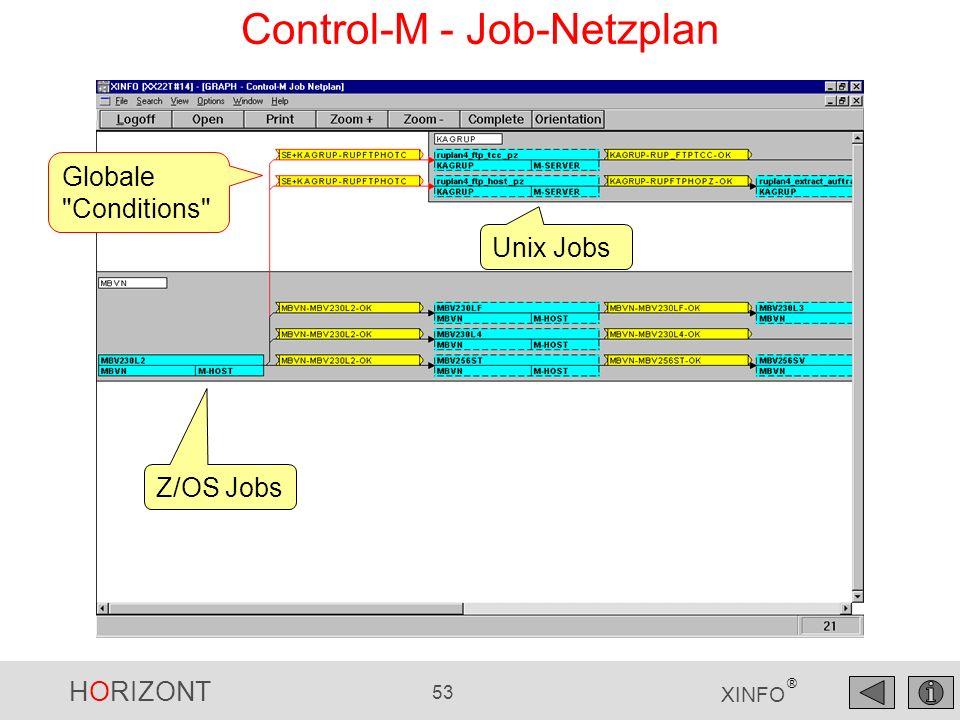 HORIZONT 53 XINFO ® Control-M - Job-Netzplan Globale
