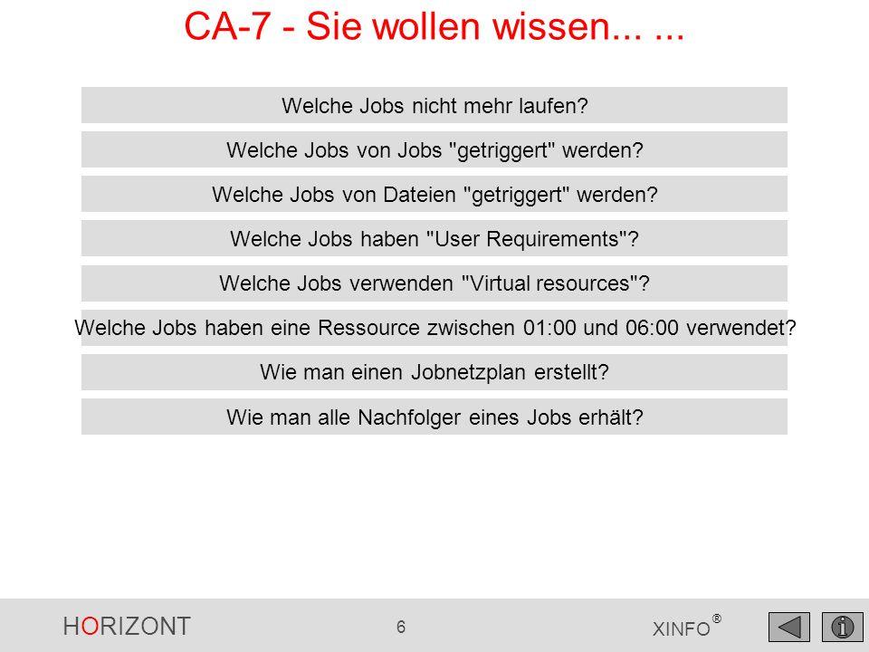HORIZONT 347 XINFO ® CA-Deliver - Recipient Auswahl Sie wollen alle Report-ids CO02* sehen...
