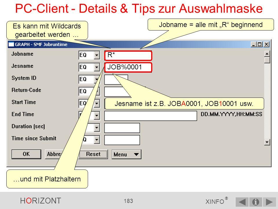 HORIZONT 182 XINFO ® PC-Client - Batch Interface (BIF) Datei anzeigen über Doppelklick