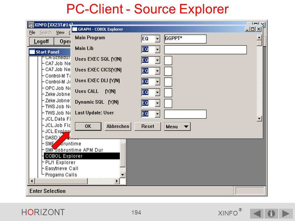 HORIZONT 193 XINFO ® PC-Client - Call Diagramm Diese Programme müssen überprüft werden, wenn GGPPT3F geändert wird!