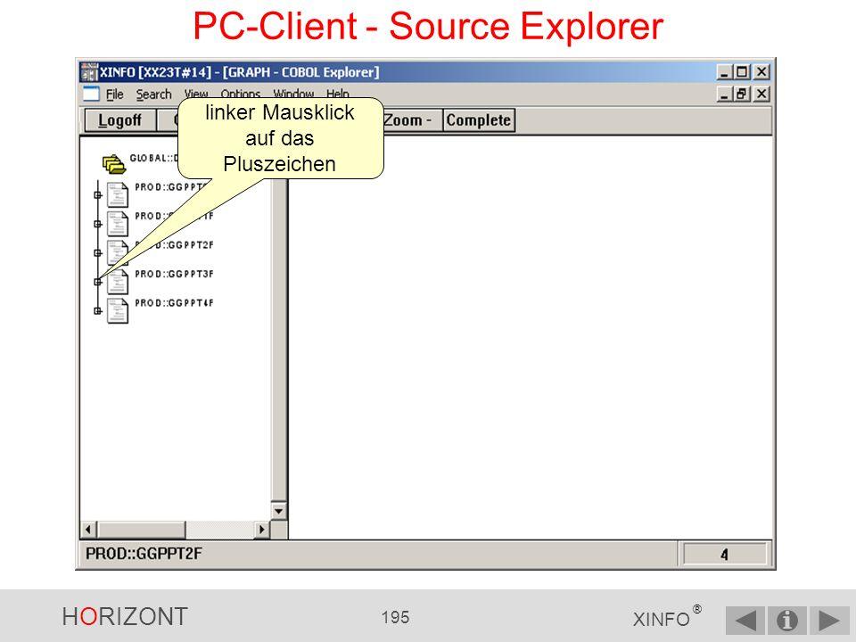 HORIZONT 194 XINFO ® PC-Client - Source Explorer