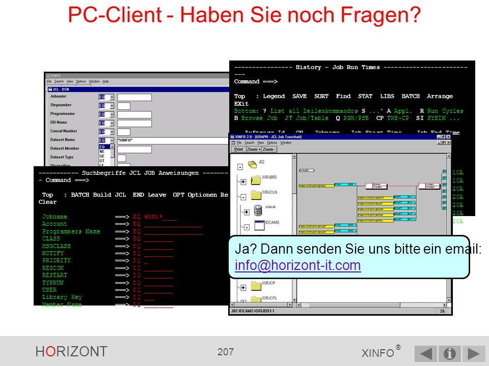 HORIZONT 206 XINFO ® PC-Client - Page Settings Klicken Sie auf den Button Page Setup, um den Druck anzupassen.