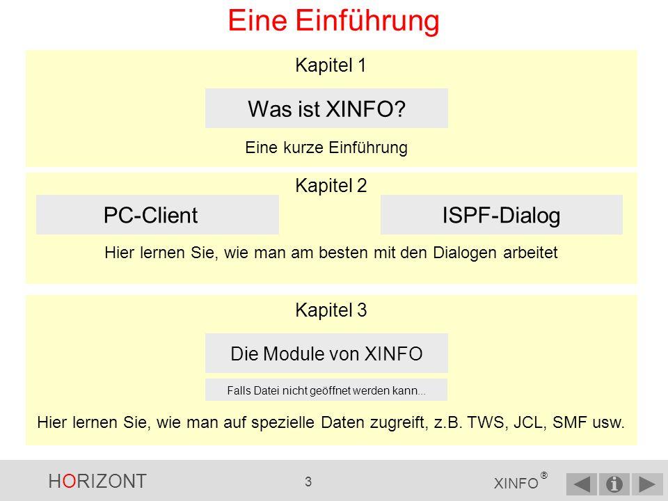 HORIZONT 2 XINFO ® Eine Einführung Einführung Topic 1 Topic 2 Topic 3 Der Basiskurs sollte in der vorgegebenen sequentiellen Reihenfolge durchgegangen werden.