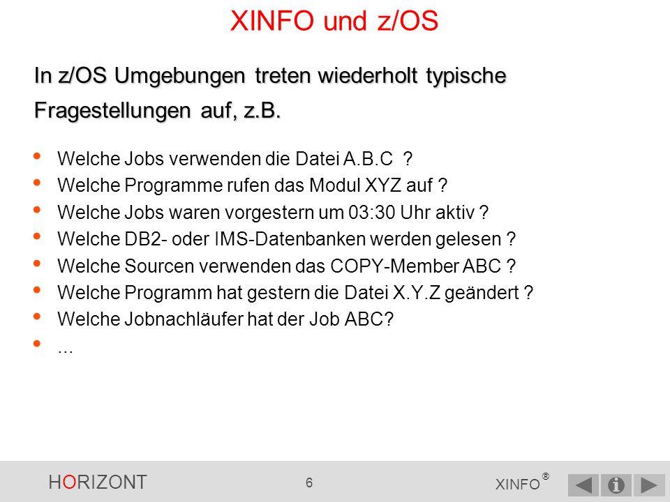 HORIZONT 5 XINFO ® Wie funktioniert XINFO.