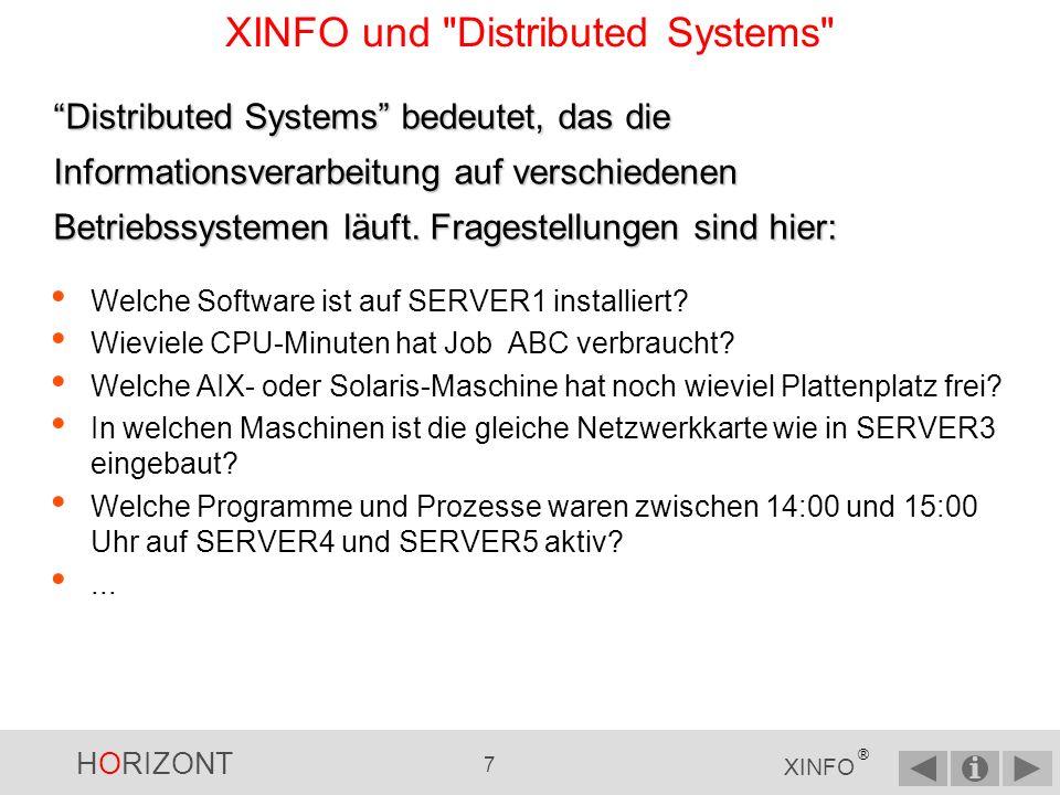 HORIZONT 6 XINFO ® XINFO und z/OS Welche Jobs verwenden die Datei A.B.C .