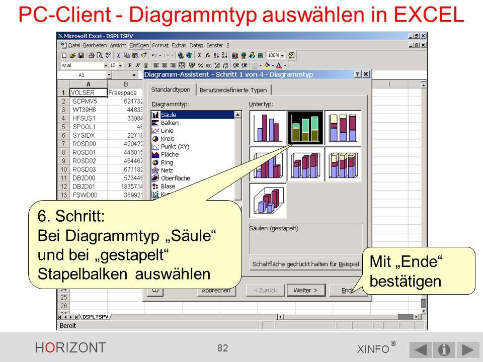 HORIZONT 81 XINFO ® PC-Client - IMPORT nach EXCEL (4) 5.