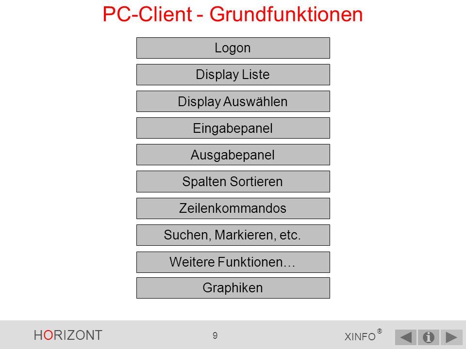 HORIZONT 8 XINFO ® PC-Client