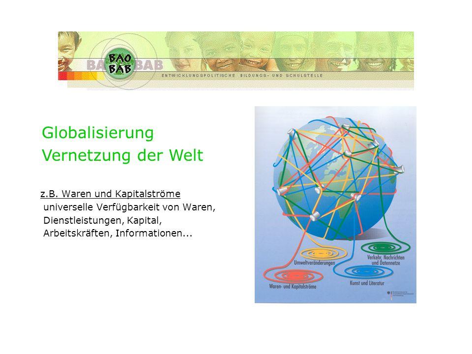 Historie des Verbunds z.B. Waren und Kapitalströme universelle Verfügbarkeit von Waren, Dienstleistungen, Kapital, Arbeitskräften, Informationen... Gl