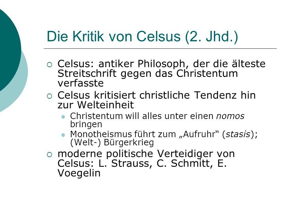 Die Kritik von Celsus (2.