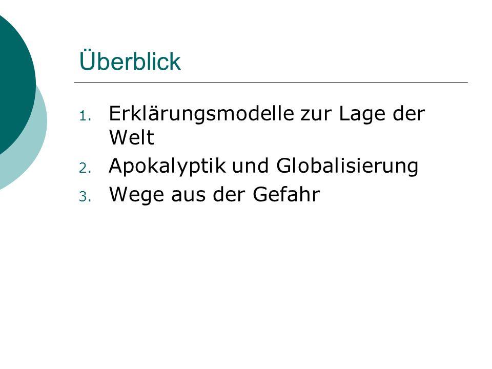 1.Erklärungsmodelle zur Lage der Welt 1. Ein Kampf der Kulturen.