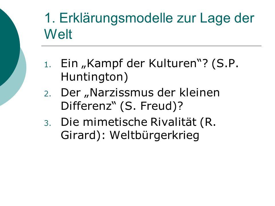 1.1 Ein Kampf der Kulturen.(S.P.