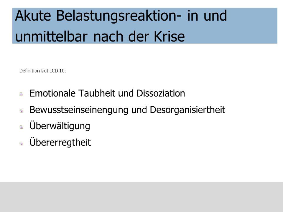 Symptomatik der PTBS – Besonderheiten bei Kindern (Tabelle v.