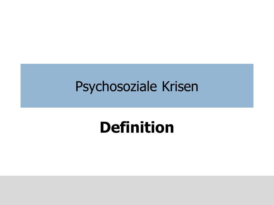 Krisendefinition In der Fachliteratur findet man häufig eine Definition nach Gerald Caplan (1961)… Unter Krise ist eine akute Überforderung eines gewohnten Verhaltens- respektive Copingsystems durch belastende äußere oder innere Erlebnisse zu verstehen.