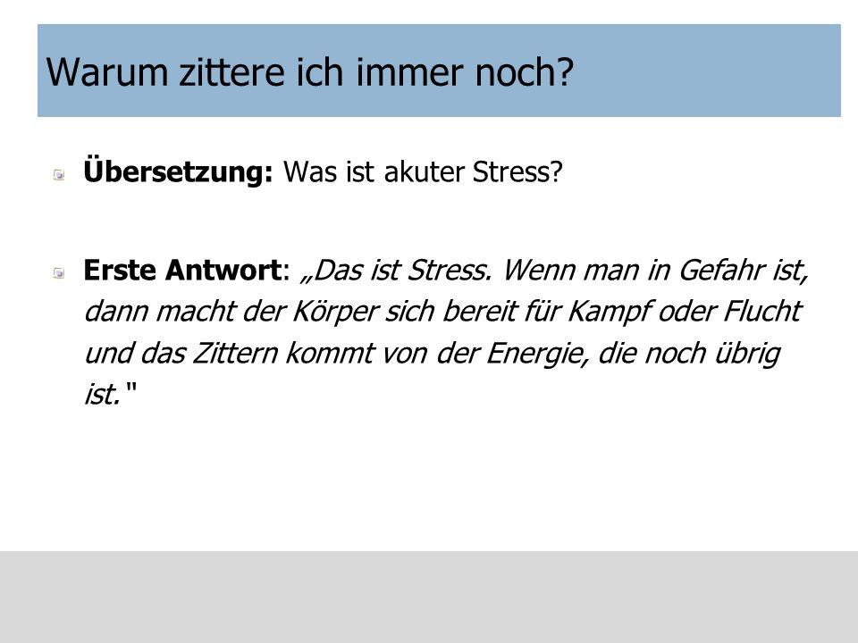 Warum kann ich nicht schlafen.Übersetzung: Was ist andauernder Stress.