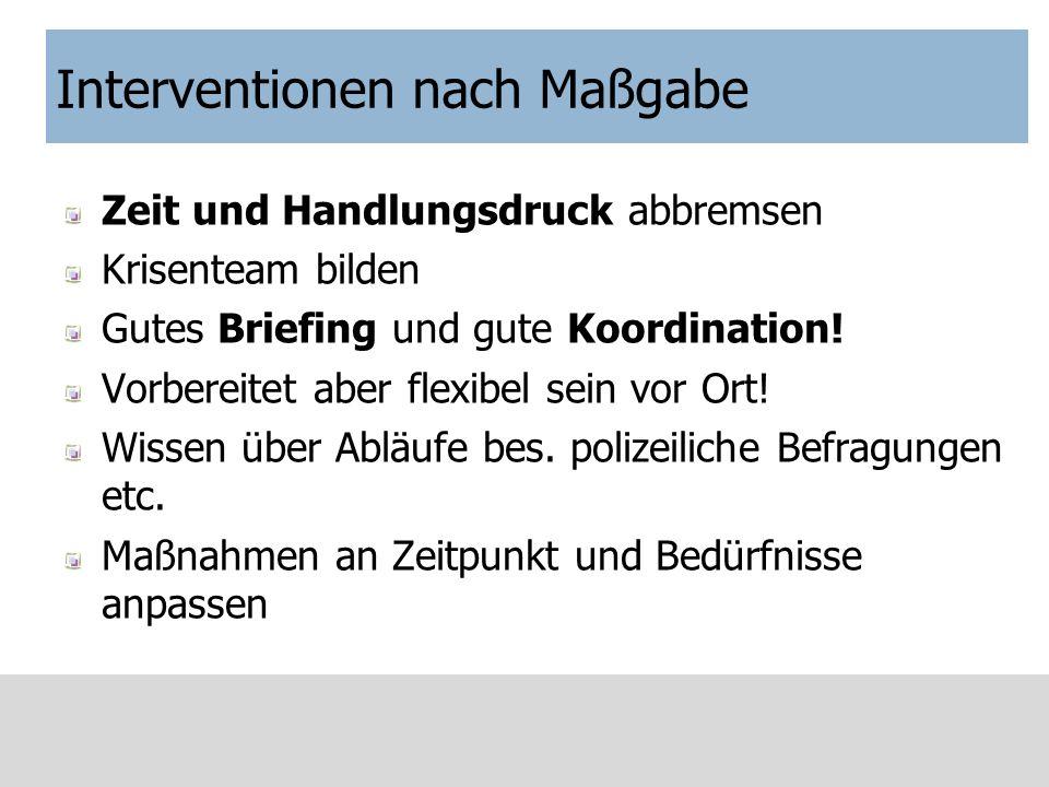 Gruppeninterventionen Ao Univ Prof. Dr. B. Juen Universität Innsbruck Österr. Rotes Kreuz