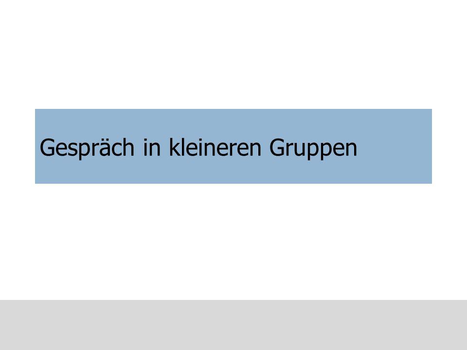 3 Haupt-Gesprächsphasen (Trait/Parkinson, 1990) Fakten (Facts) Erleben (Feelings) Zukunft (Future)