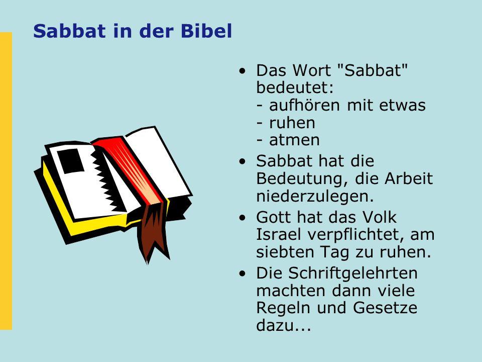 Sabbat in der Bibel Das Wort