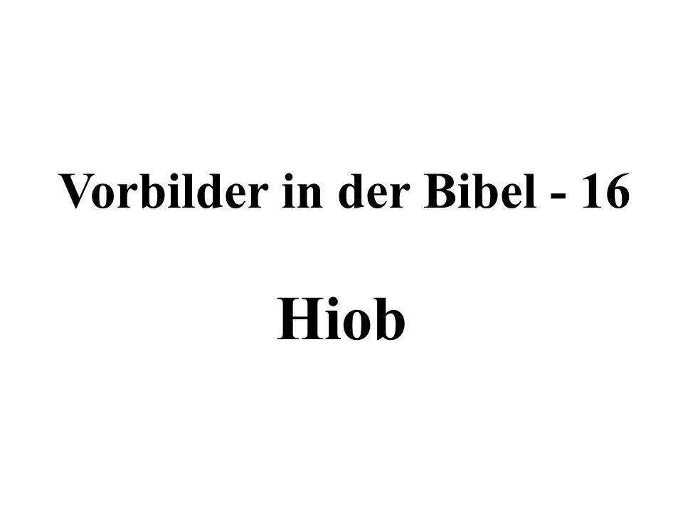 Vorbilder in der Bibel - 16 Hiob