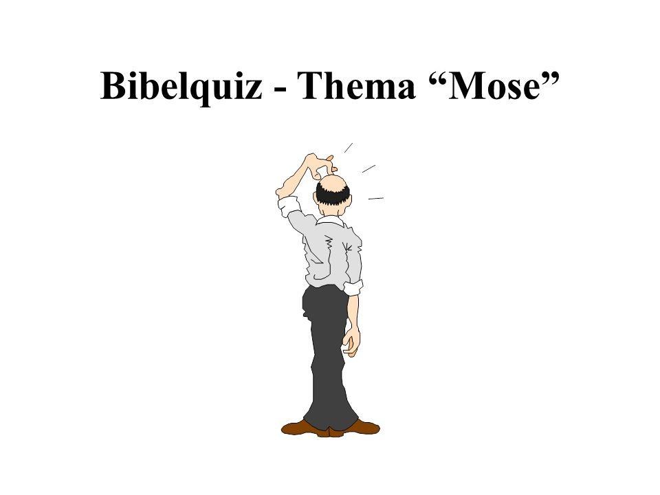 Vergleich: Mose - Jesus (3) Pharao liess alle Söhne töten (2.