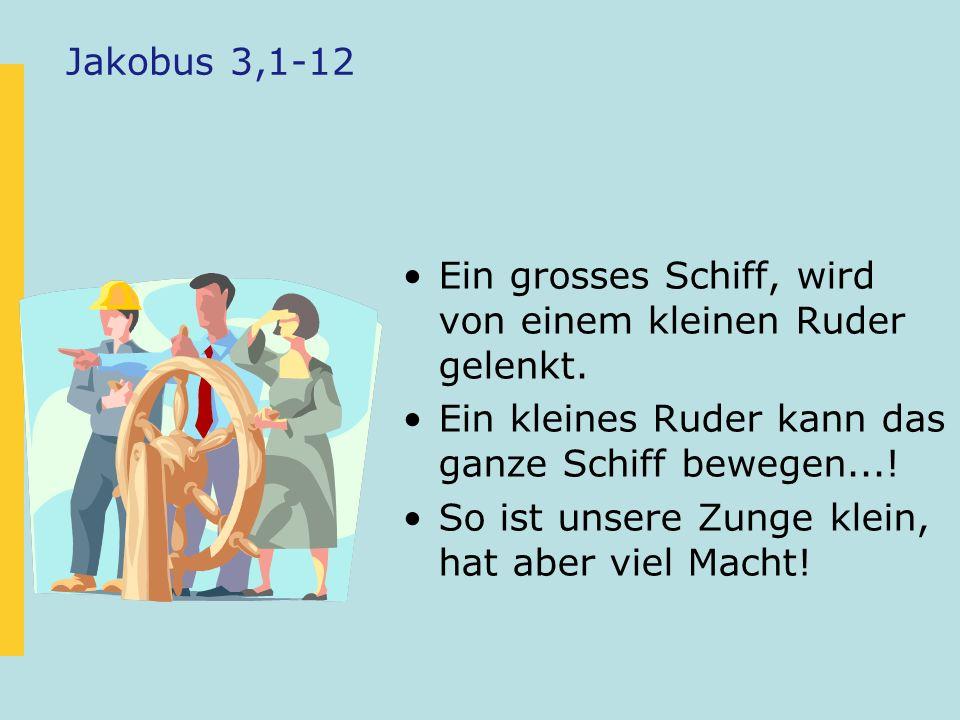 Negatives Reden Jakobus 3,9-11 mahnt uns, dass wir darauf achten müssen, wie und was wir reden.