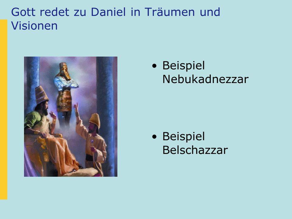 Daniel war ein Mann des Gebets Wir finden Daniel oft im Gebet Daniel glaubte an die Kraft von gemeinsamen Gebet (Daniel 2, 17-18) Daniels Gebet war voller Anbetung und Dank.