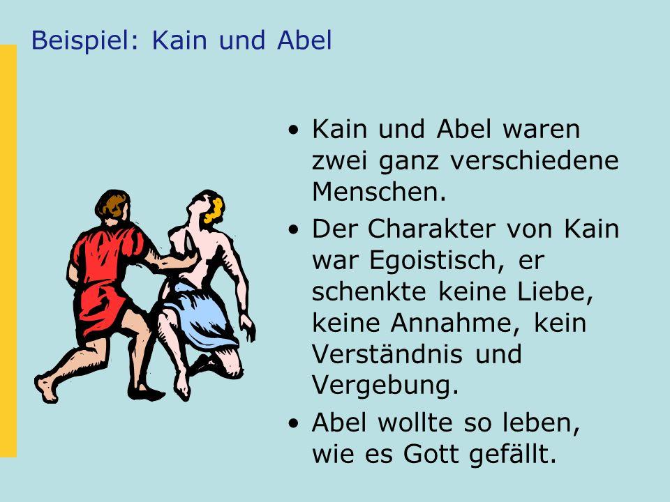 Kain und Abel – in der CGG.Johannes hatte Sorge, dass die Gemeinde gleich lebt wie die Welt.