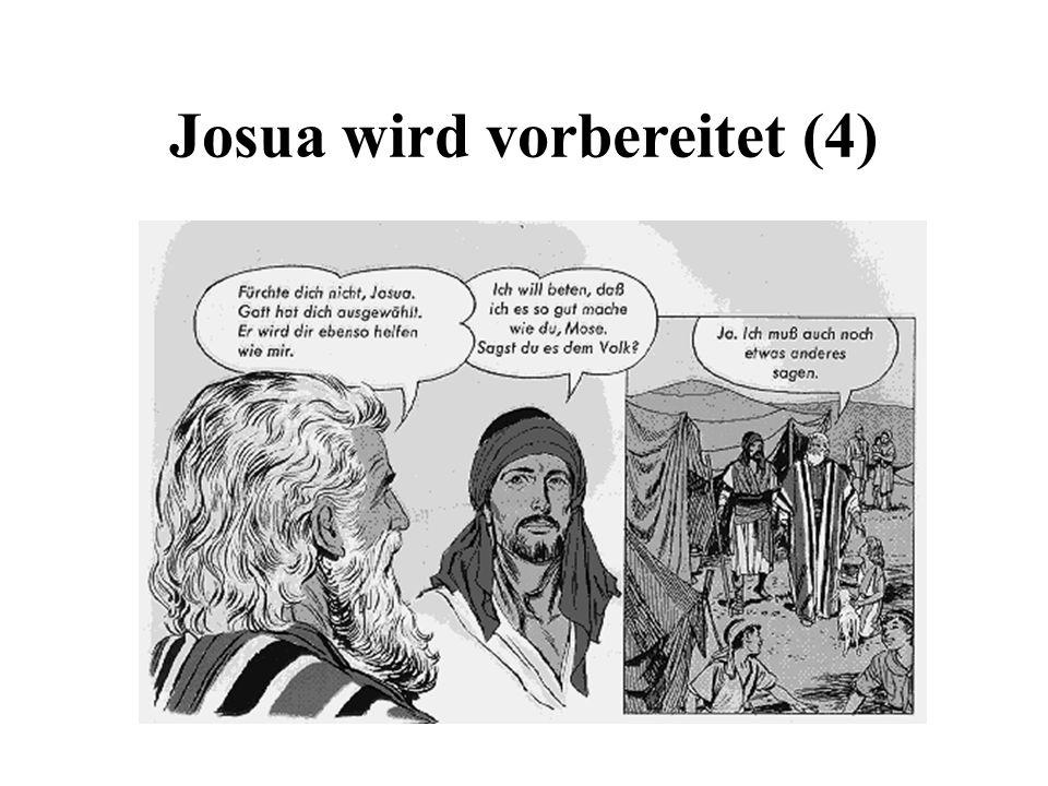 Josua wird berufen und eingesetzt