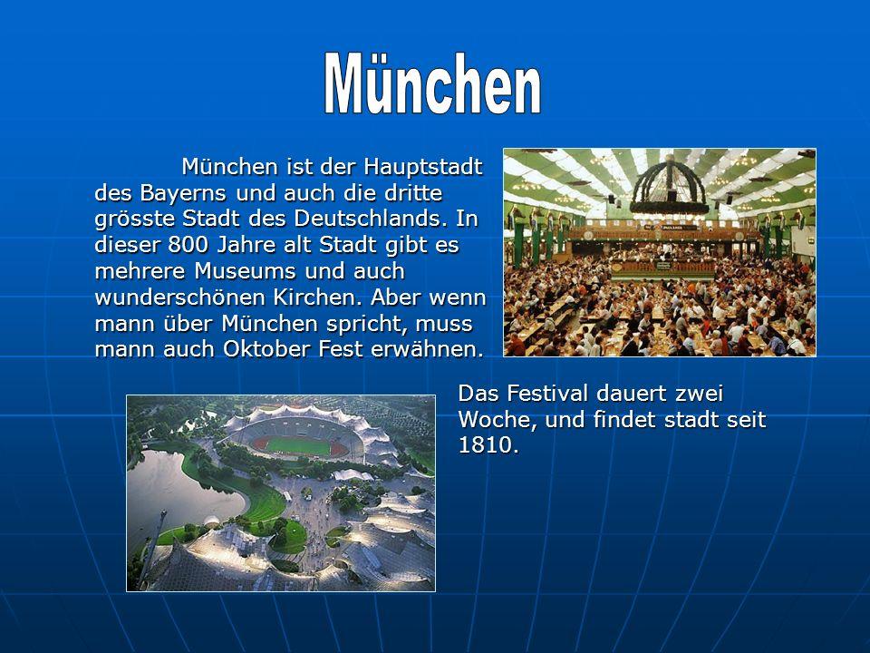 München ist der Hauptstadt des Bayerns und auch die dritte grösste Stadt des Deutschlands. In dieser 800 Jahre alt Stadt gibt es mehrere Museums und a