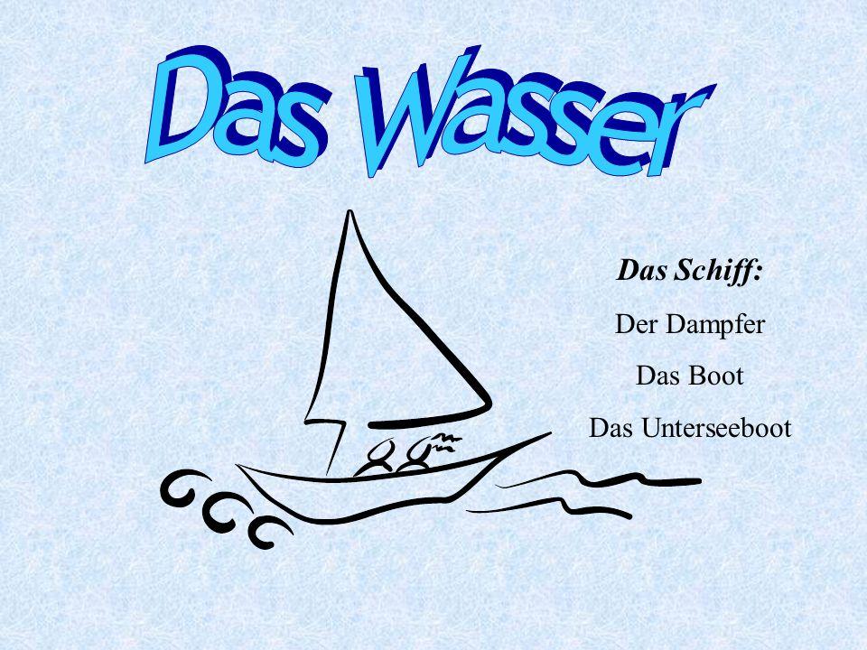 Das Schiff: Der Dampfer Das Boot Das Unterseeboot
