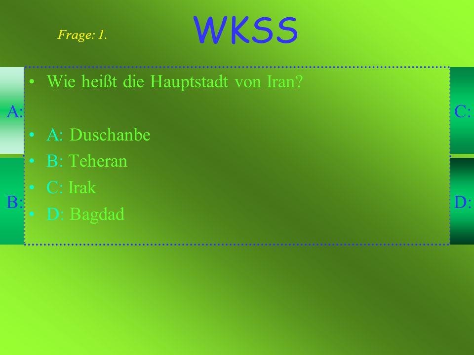 Wie klug sind Sie (WKSS) Hier ist ein Test...