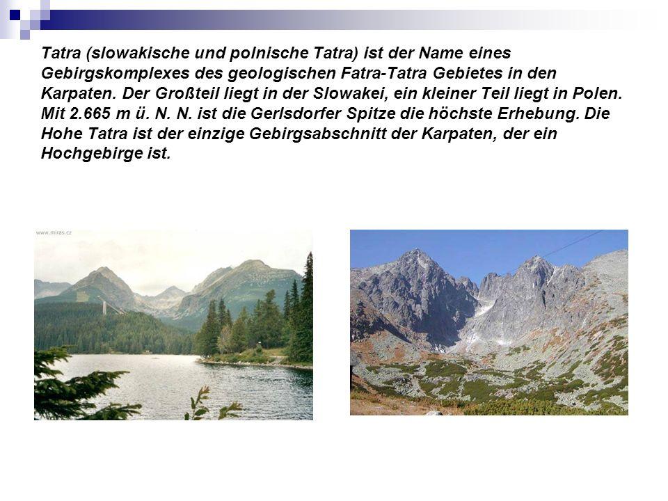 Tatra (slowakische und polnische Tatra) ist der Name eines Gebirgskomplexes des geologischen Fatra-Tatra Gebietes in den Karpaten. Der Großteil liegt