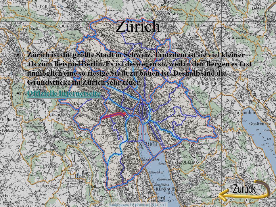 Zürich Zürich ist die größte Stadt in Schweiz.