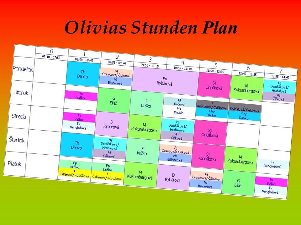 Olivias Stunden Plan