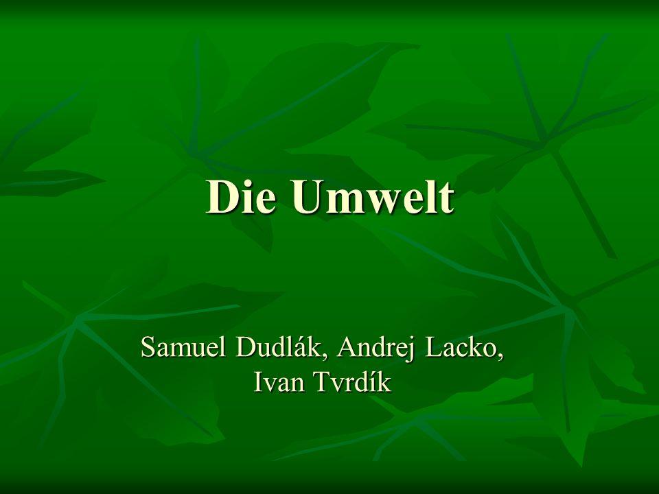 Die Umwelt Samuel Dudlák, Andrej Lacko, Ivan Tvrdík