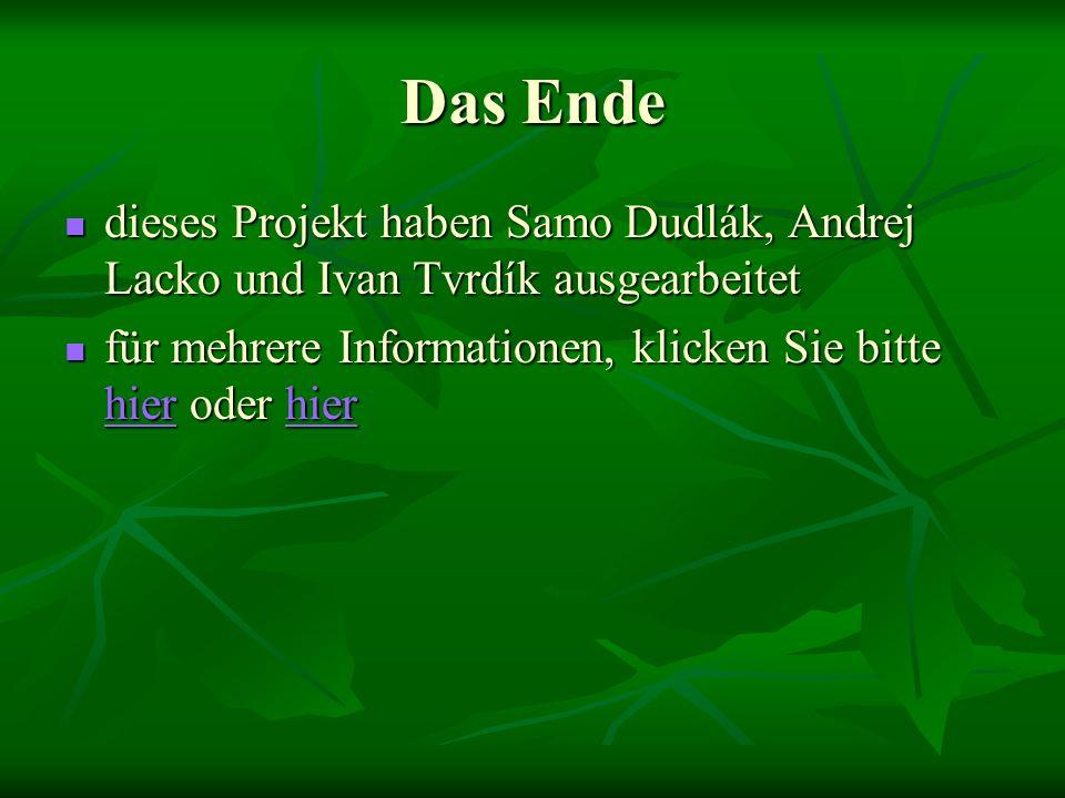 Das Ende dieses Projekt haben Samo Dudlák, Andrej Lacko und Ivan Tvrdík ausgearbeitet für mehrere Informationen, klicken Sie bitte hhhh iiii eeee rrrr