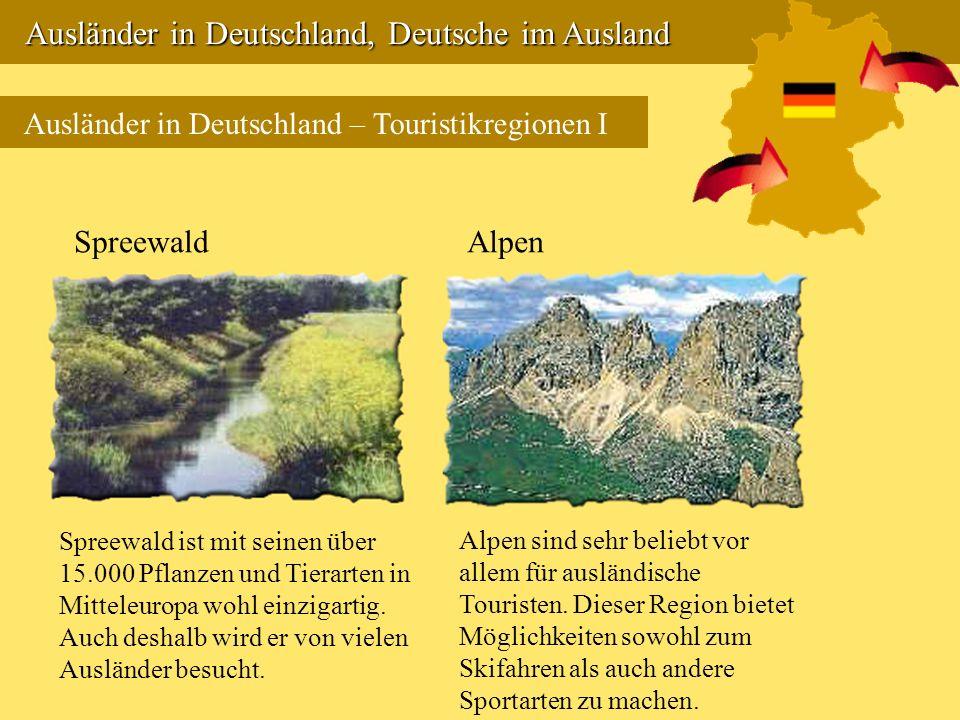 Ausländer in Deutschland, Deutsche im Ausland Ausländer in Deutschland, Deutsche im Ausland Ausländer in Deutschland – Touristikregionen I Spreewald S