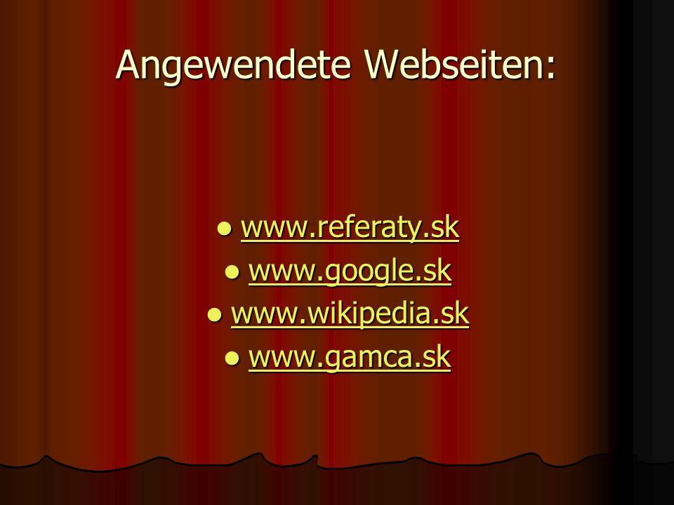 Angewendete Webseiten: w w wwww wwww....rrrr eeee ffff eeee rrrr aaaa tttt yyyy....