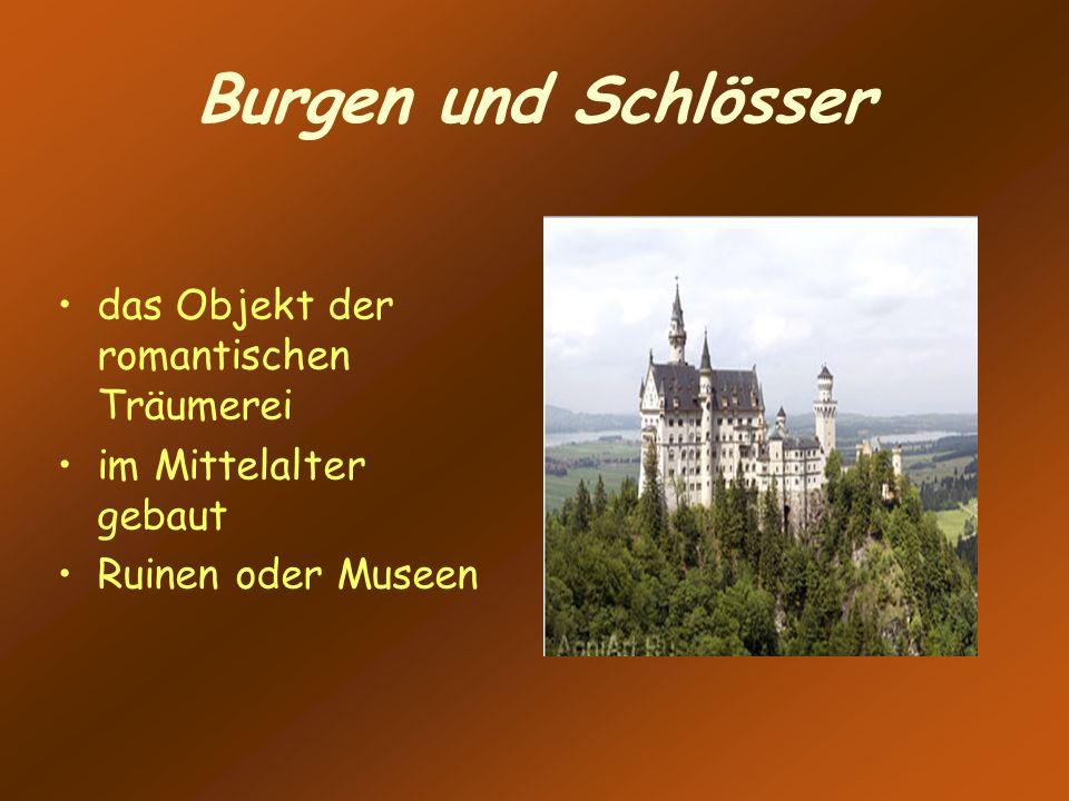 Burgen und Schlösser das Objekt der romantischen Träumerei im Mittelalter gebaut Ruinen oder Museen