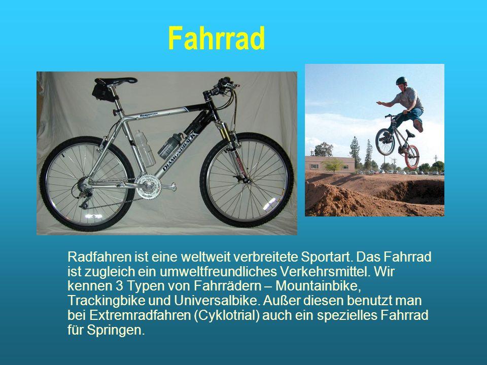 Fahrrad Radfahren ist eine weltweit verbreitete Sportart.
