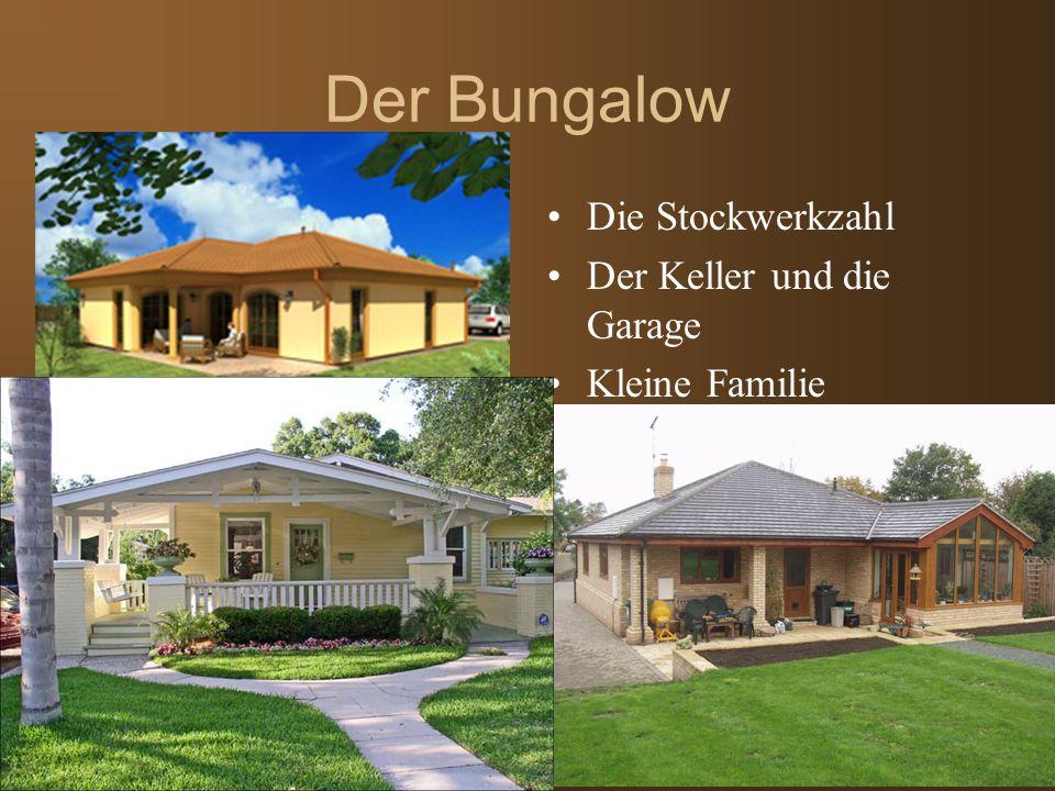Der Bungalow Die Stockwerkzahl Der Keller und die Garage Kleine Familie