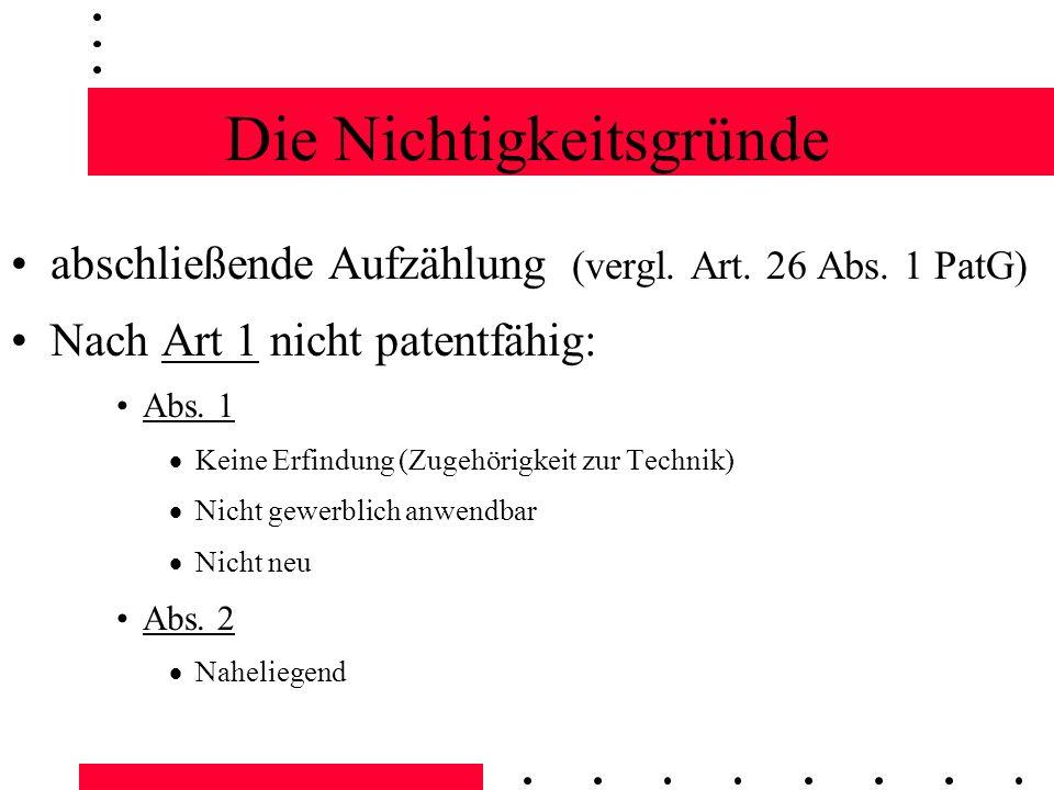 Die Nichtigkeitsgründe (2) nicht patentfähig Pflanzensorten, Tierarten Biologische Züchtungsverfahren Nach Art.